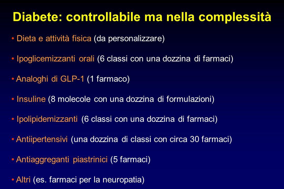 Diabete: controllabile ma nella complessità