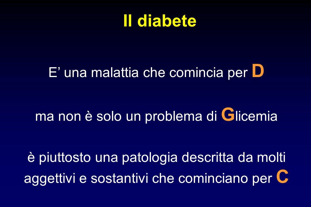 Il diabete E' una malattia che comincia per D