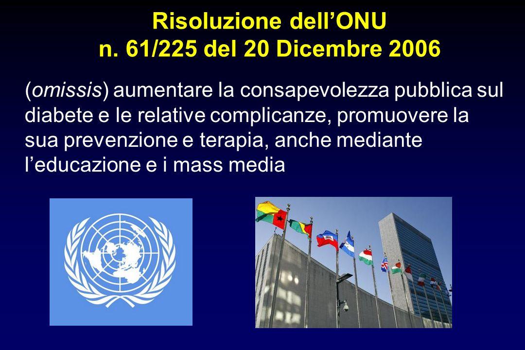Risoluzione dell'ONU n. 61/225 del 20 Dicembre 2006