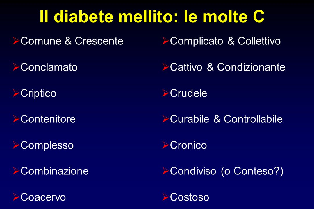 Il diabete mellito: le molte C