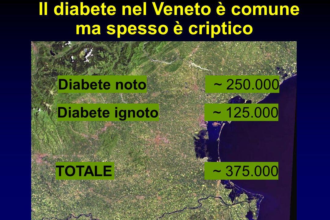 Il diabete nel Veneto è comune