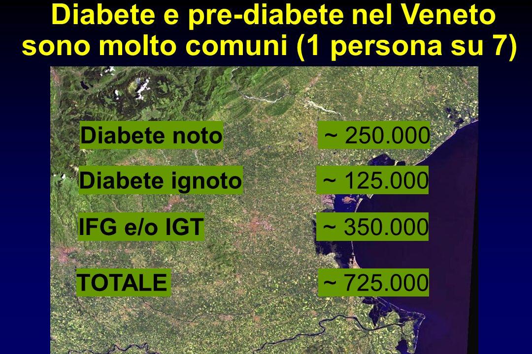 Diabete e pre-diabete nel Veneto sono molto comuni (1 persona su 7)