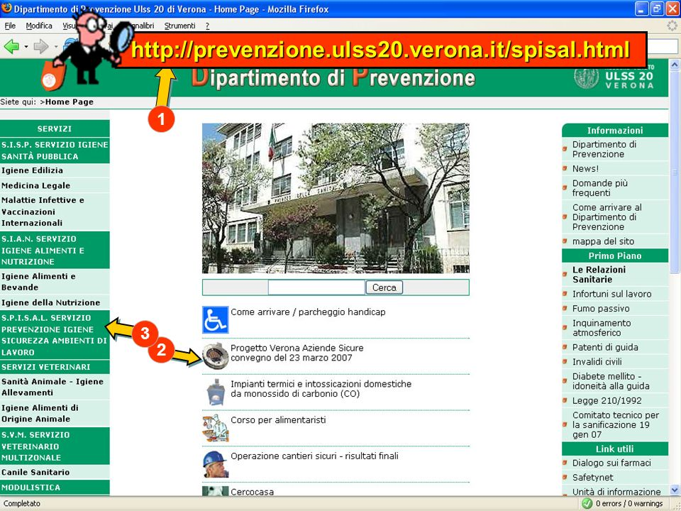 http://prevenzione.ulss20.verona.it/spisal.html 1 3 2