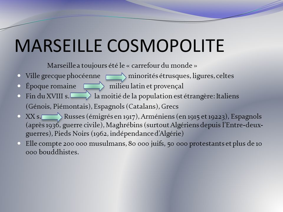 MARSEILLE COSMOPOLITE