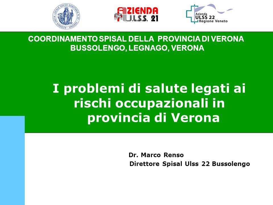 Dr. Marco Renso Direttore Spisal Ulss 22 Bussolengo