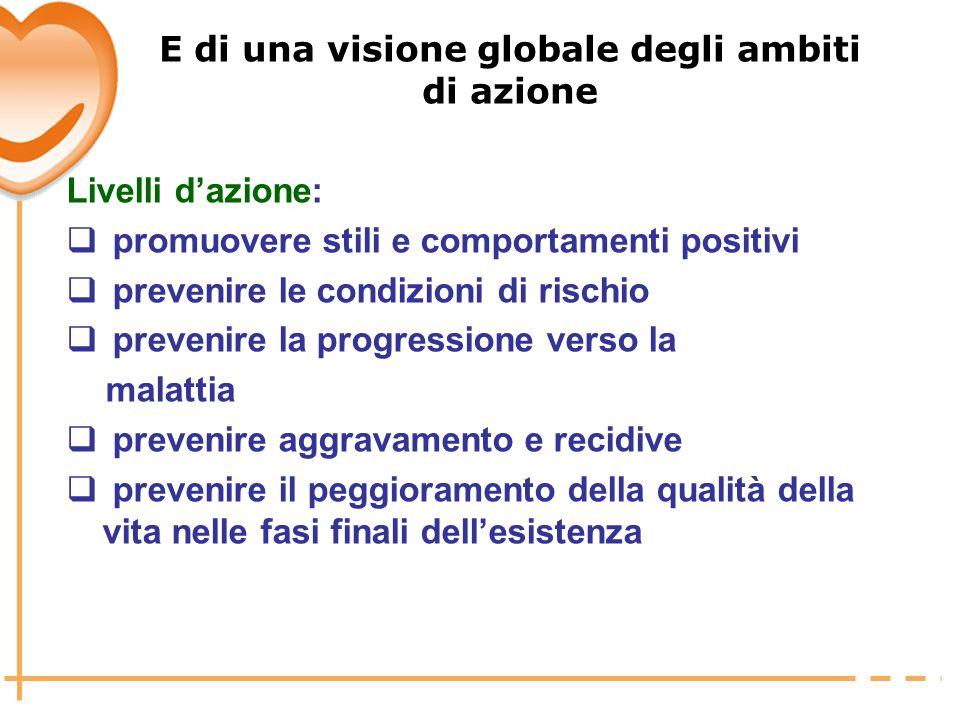 E di una visione globale degli ambiti di azione
