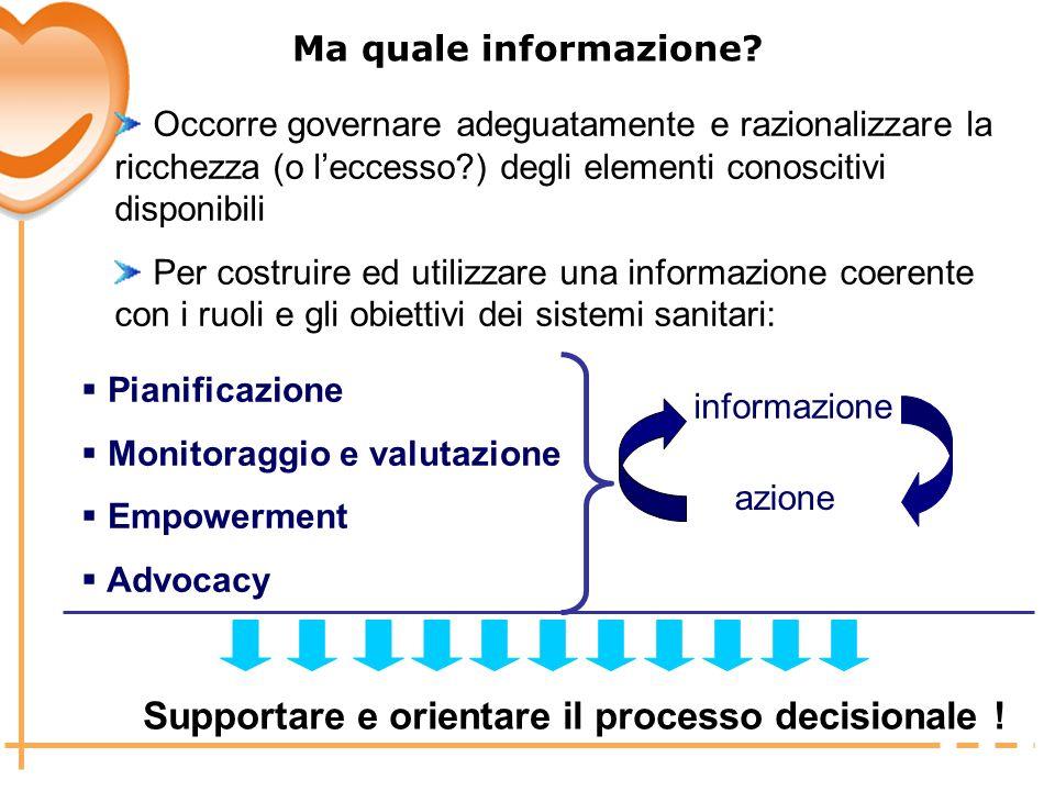 Supportare e orientare il processo decisionale !
