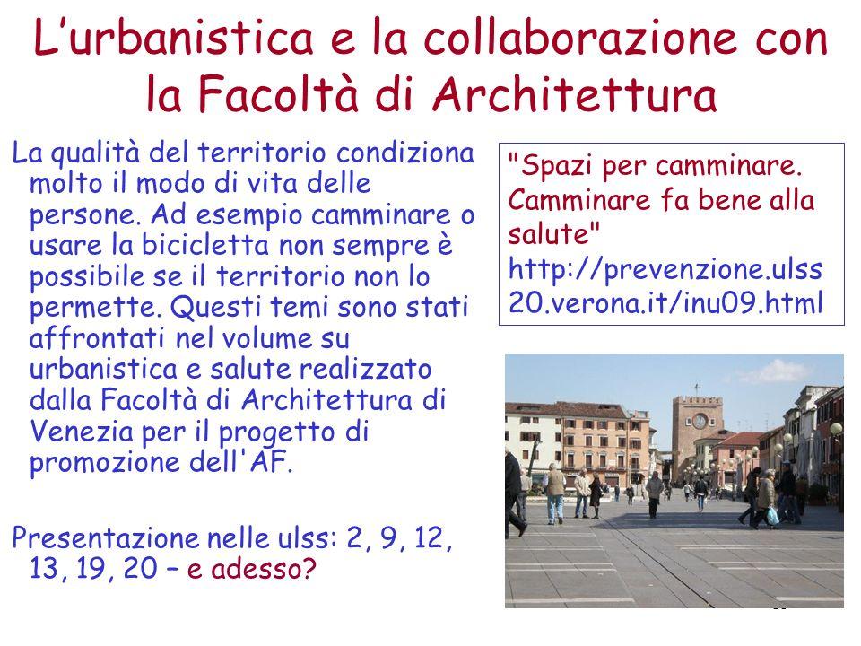 L'urbanistica e la collaborazione con la Facoltà di Architettura