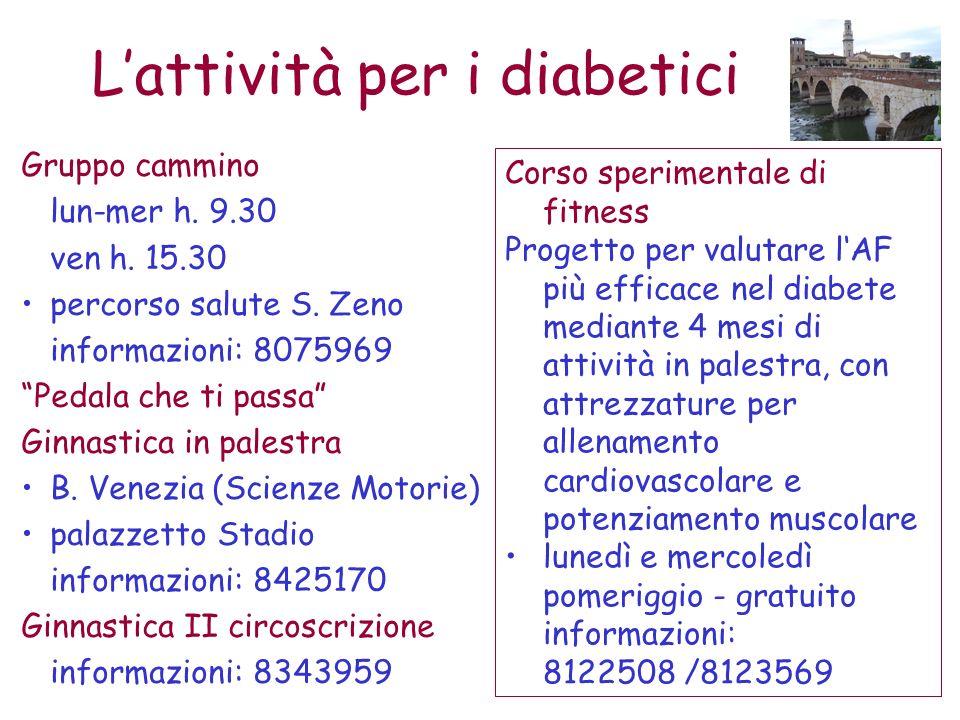 L'attività per i diabetici