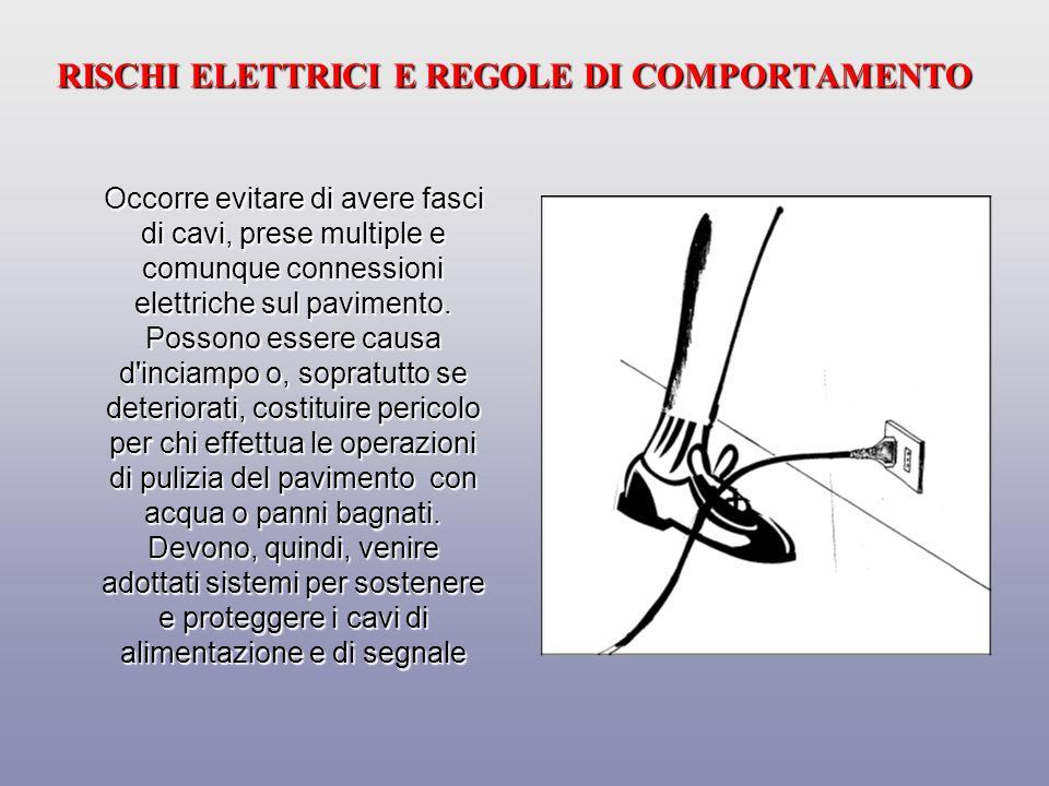 RISCHI ELETTRICI E REGOLE DI COMPORTAMENTO