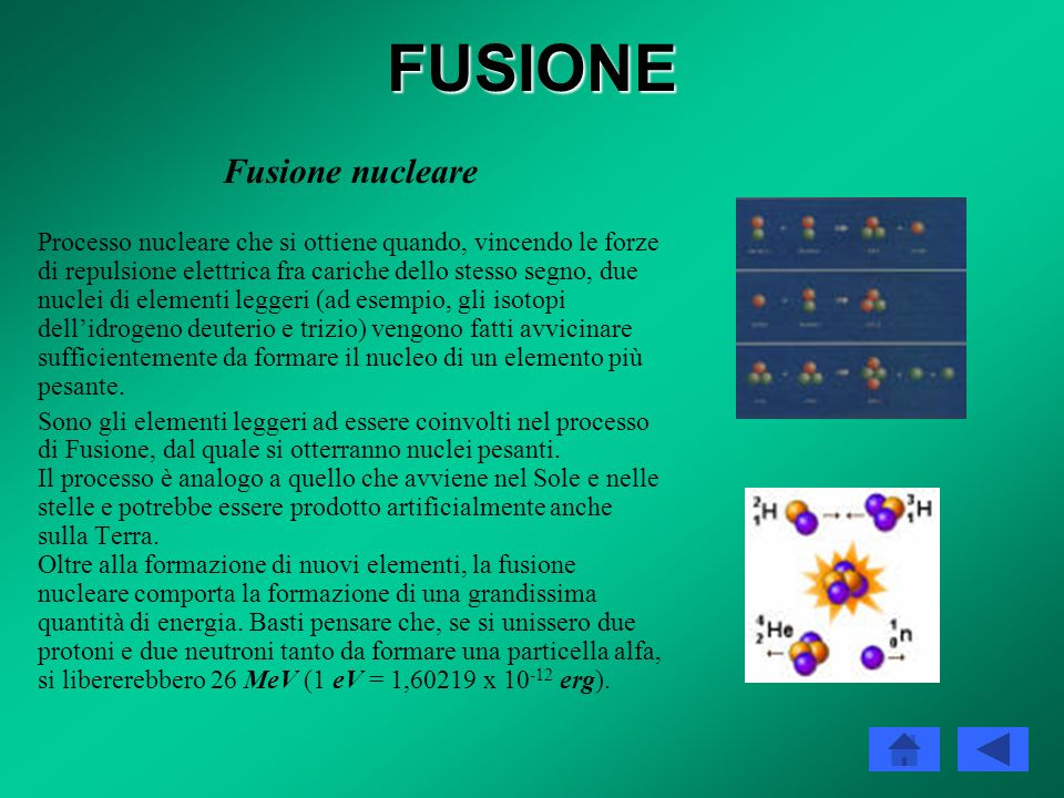 FUSIONE Fusione nucleare
