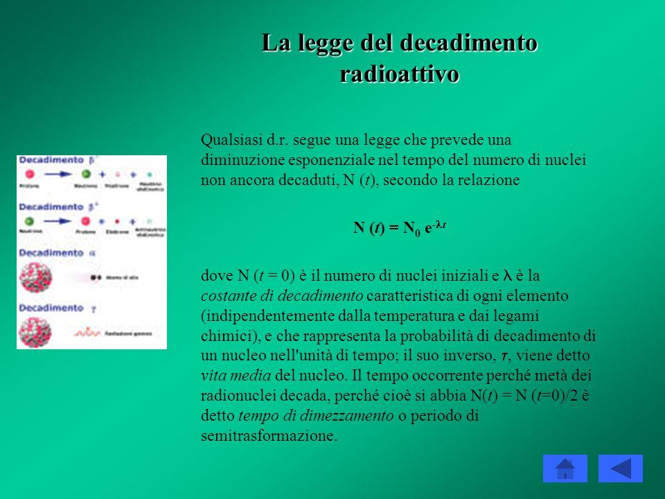 La legge del decadimento radioattivo