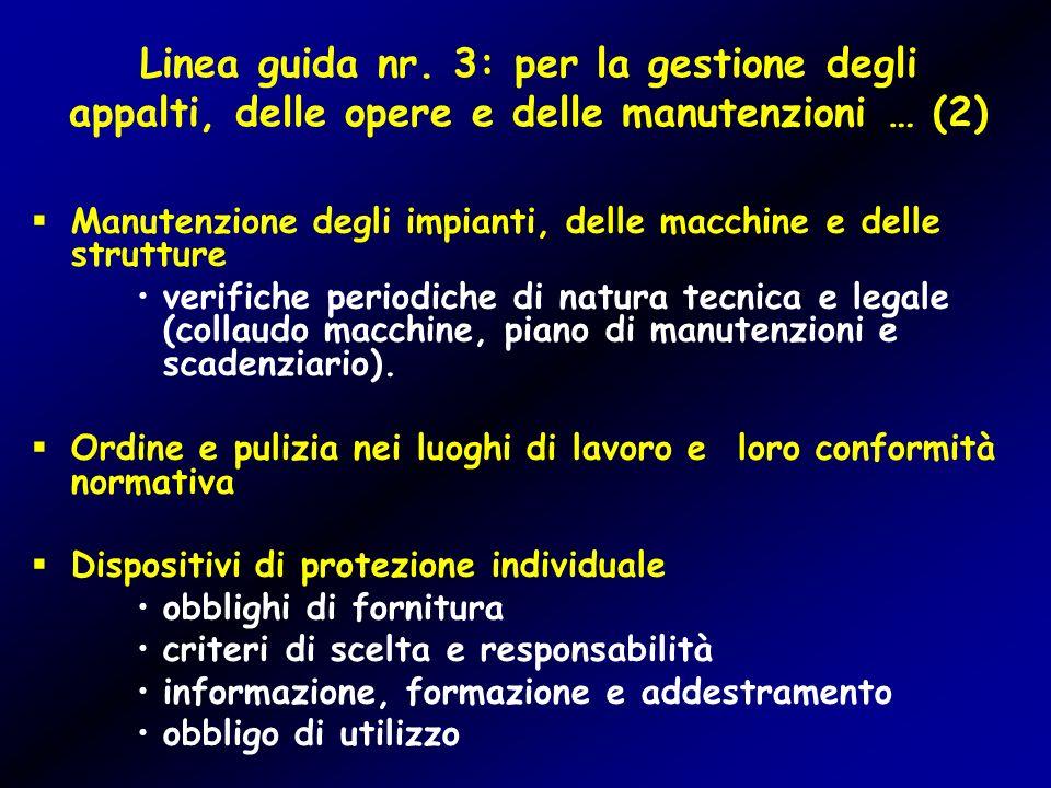 Linea guida nr. 3: per la gestione degli appalti, delle opere e delle manutenzioni … (2)