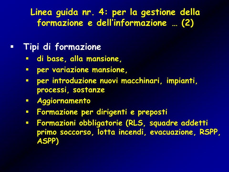 Linea guida nr. 4: per la gestione della formazione e dell'informazione … (2)