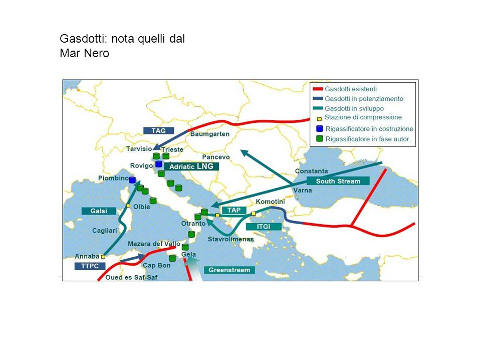 Gasdotti: nota quelli dal Mar Nero
