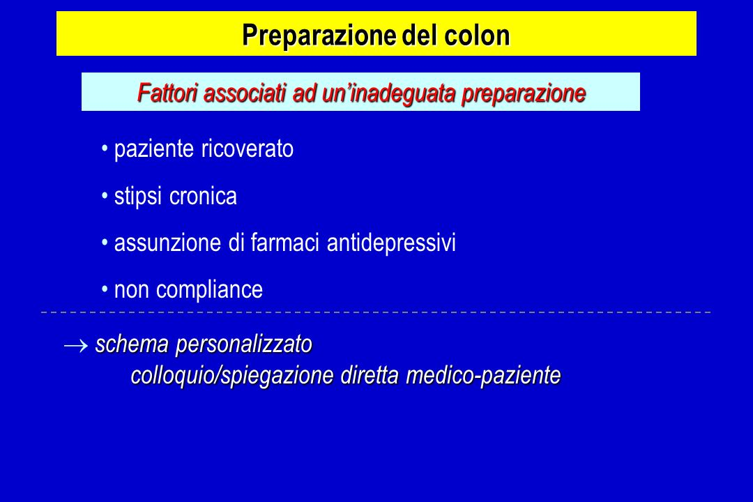 Preparazione del colon