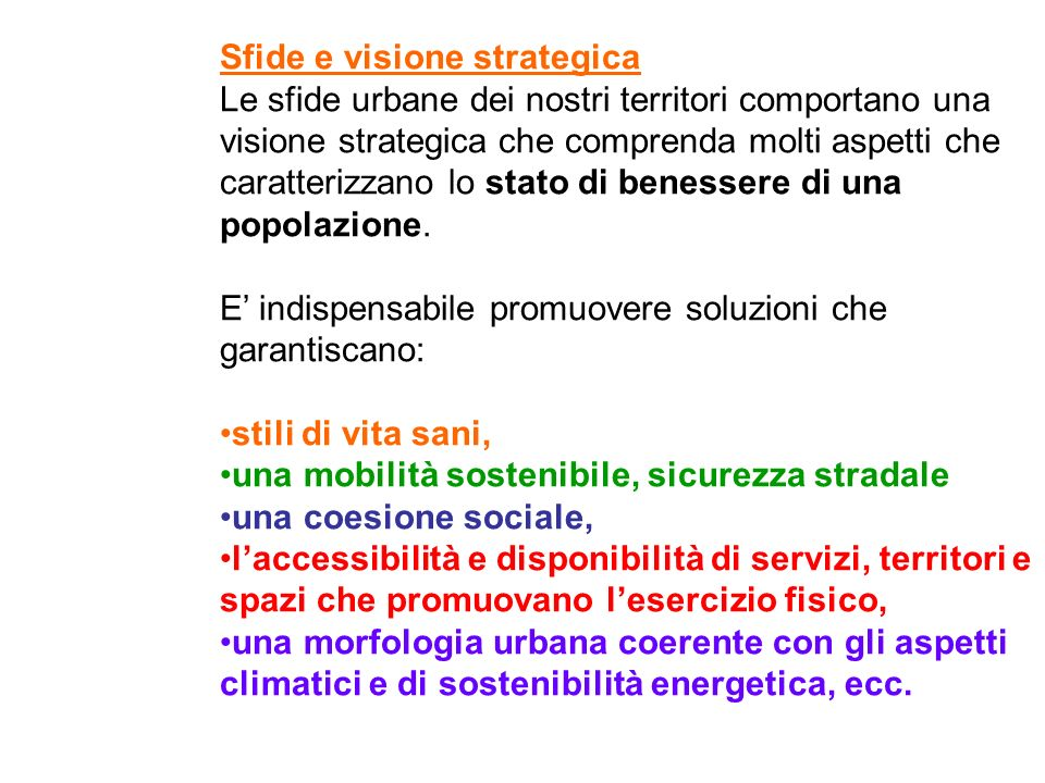 Sfide e visione strategica