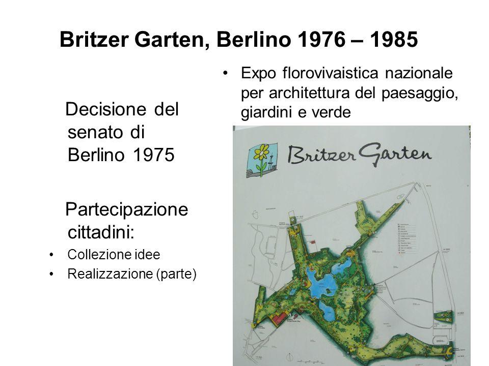 Britzer Garten, Berlino 1976 – 1985