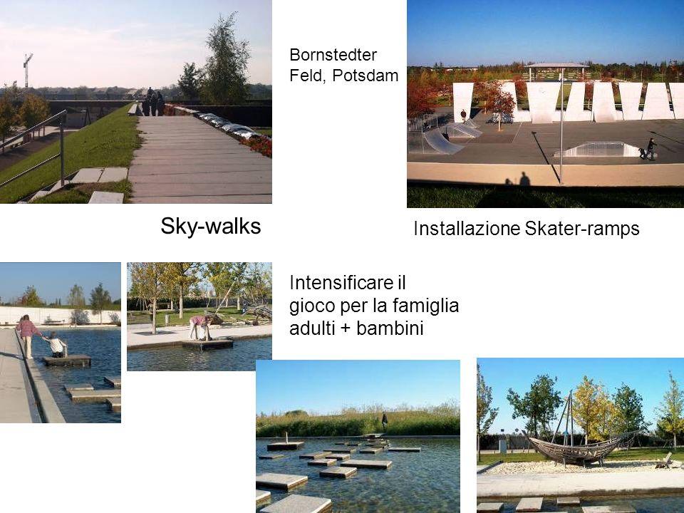 Sky-walks Installazione Skater-ramps Intensificare il