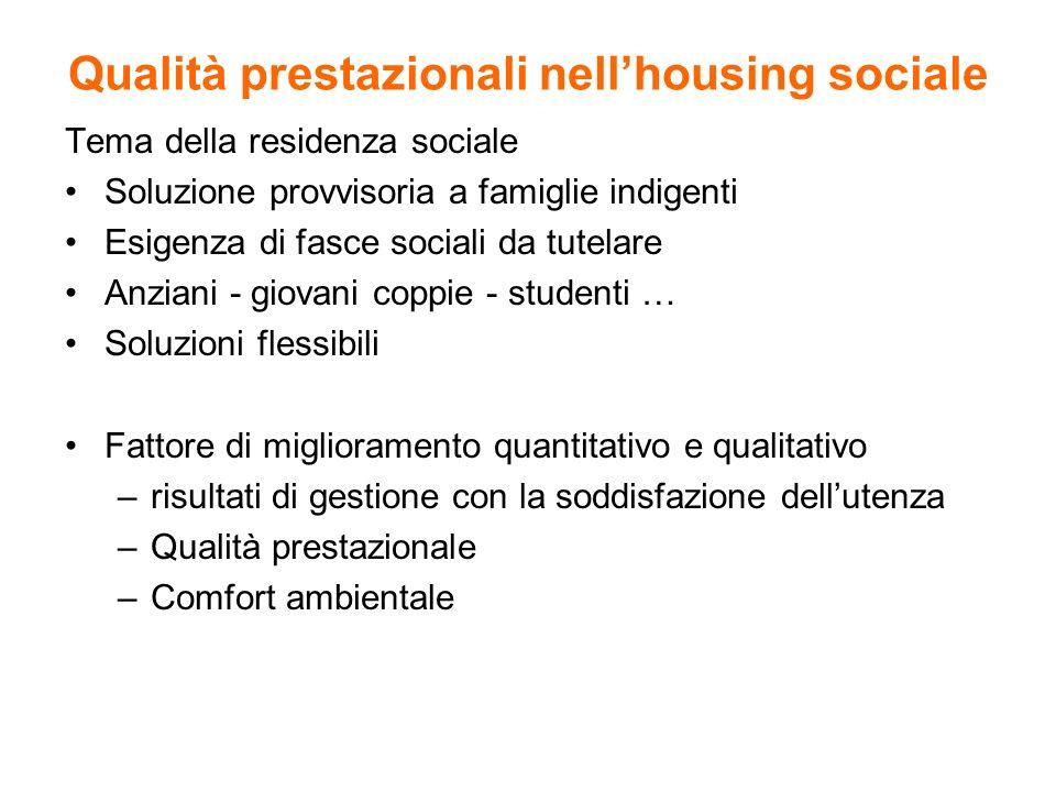 Qualità prestazionali nell'housing sociale