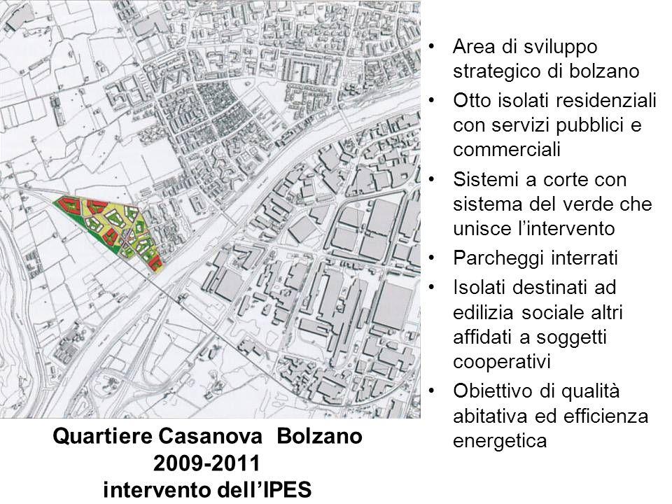 Quartiere Casanova Bolzano 2009-2011 intervento dell'IPES