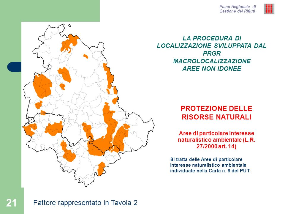 PROTEZIONE DELLE RISORSE NATURALI