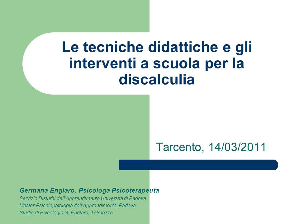 Le tecniche didattiche e gli interventi a scuola per la discalculia