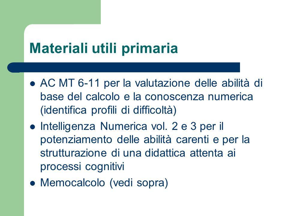 Materiali utili primaria