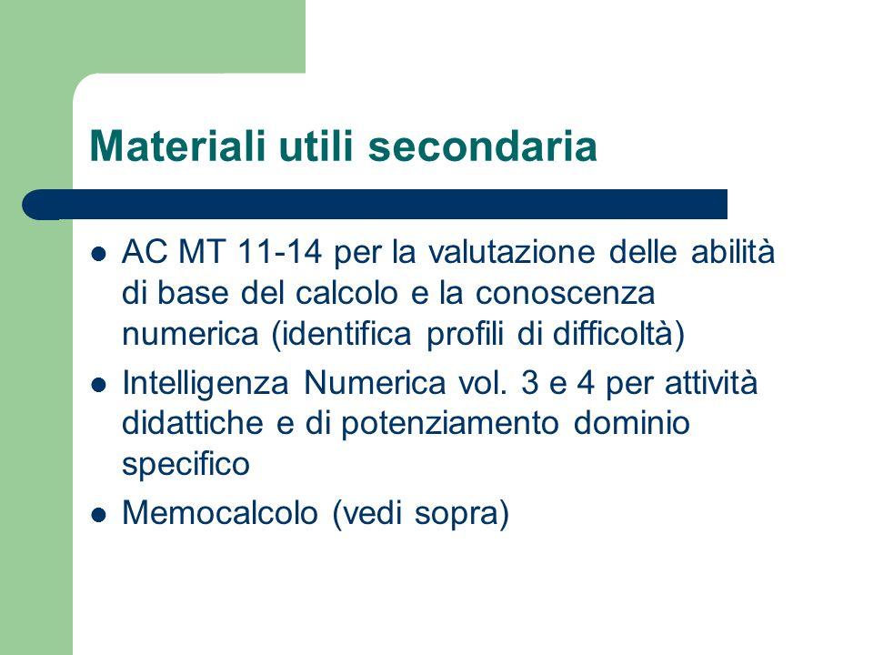 Materiali utili secondaria