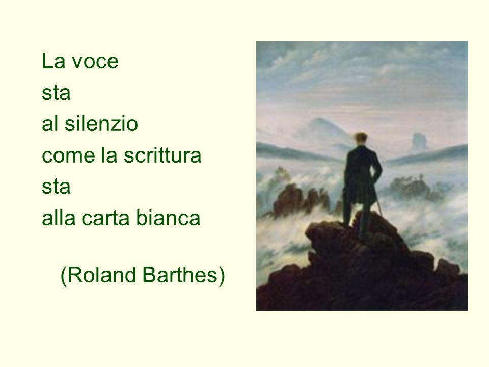 La voce sta al silenzio come la scrittura alla carta bianca (Roland Barthes)