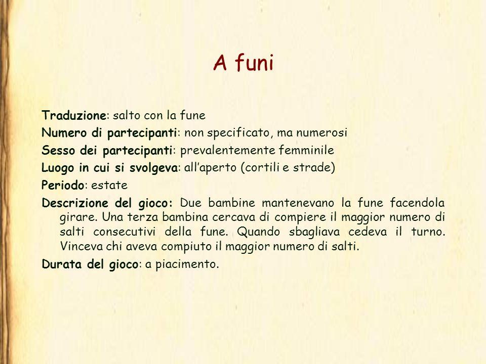 A funi Traduzione: salto con la fune