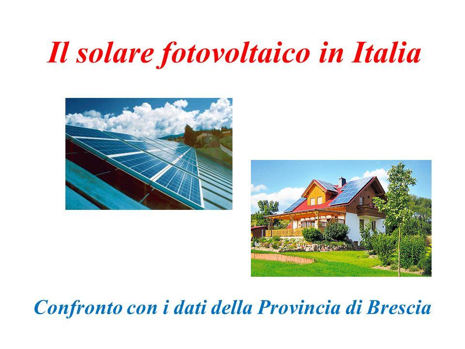 Il solare fotovoltaico in Italia