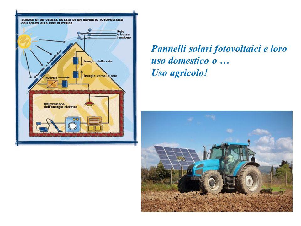 Pannelli solari fotovoltaici e loro