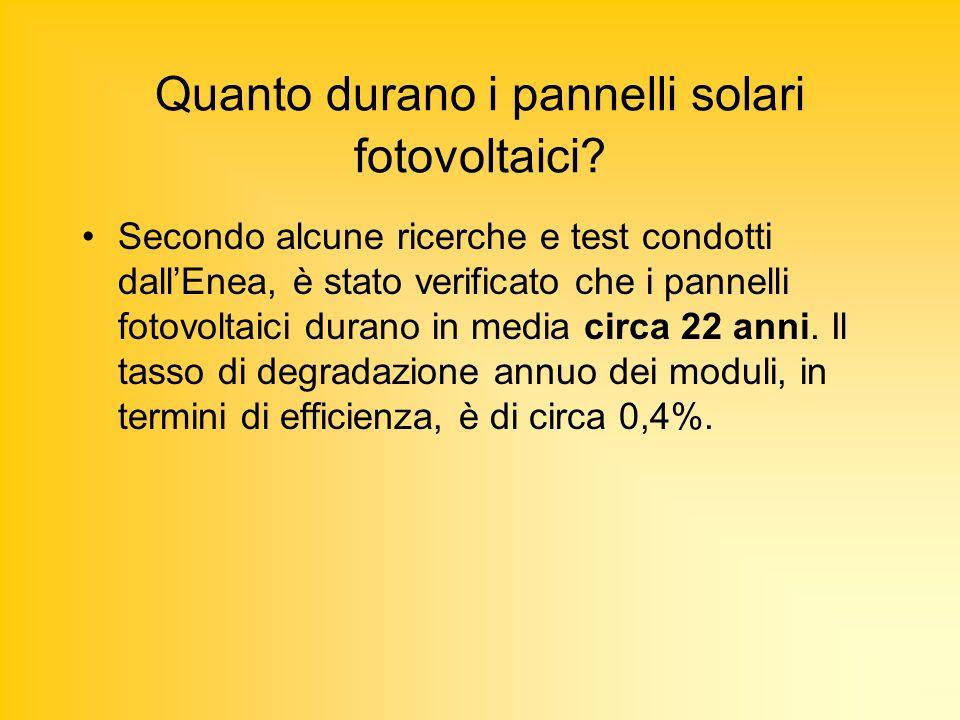 Quanto durano i pannelli solari fotovoltaici