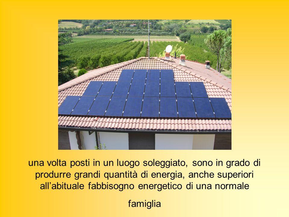 una volta posti in un luogo soleggiato, sono in grado di produrre grandi quantità di energia, anche superiori all'abituale fabbisogno energetico di una normale famiglia