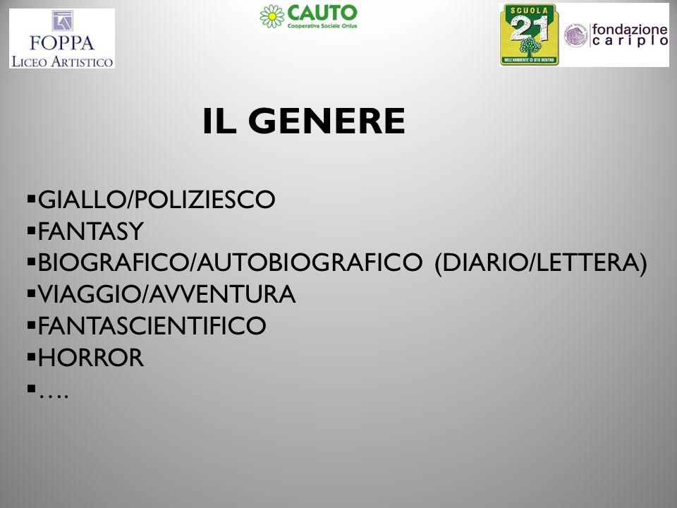 IL GENERE GIALLO/POLIZIESCO FANTASY