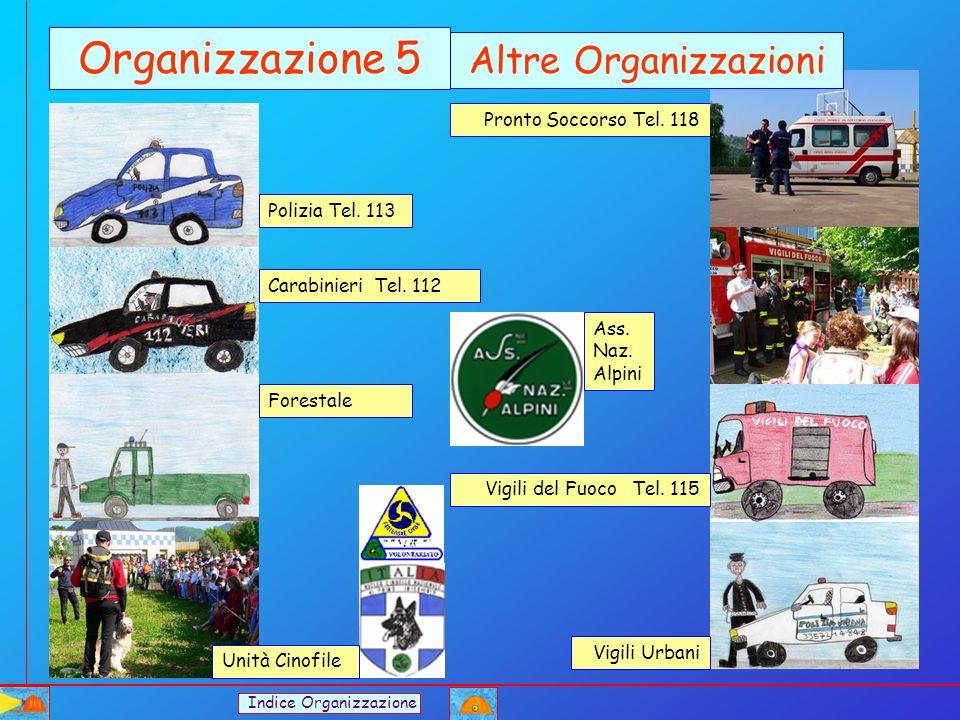 Organizzazione 5 Altre Organizzazioni Pronto Soccorso Tel. 118