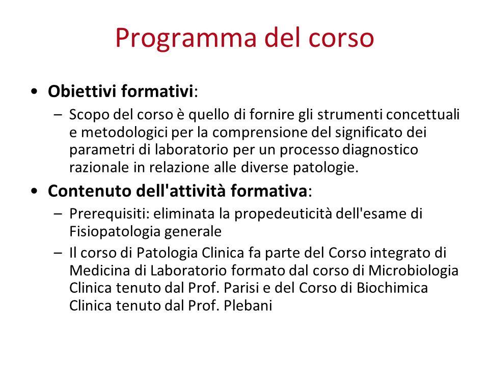 Programma del corso Obiettivi formativi: