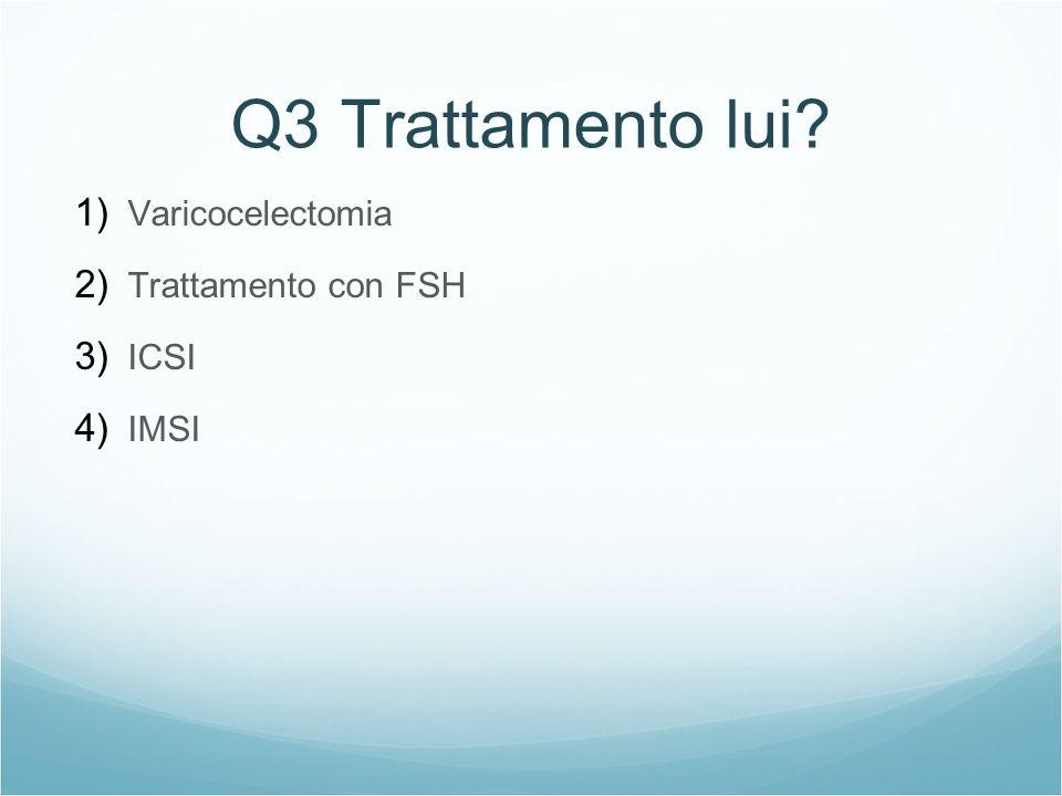 Q3 Trattamento lui Varicocelectomia Trattamento con FSH ICSI IMSI