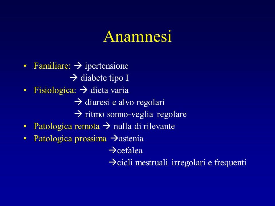 Anamnesi Familiare:  ipertensione  diabete tipo I
