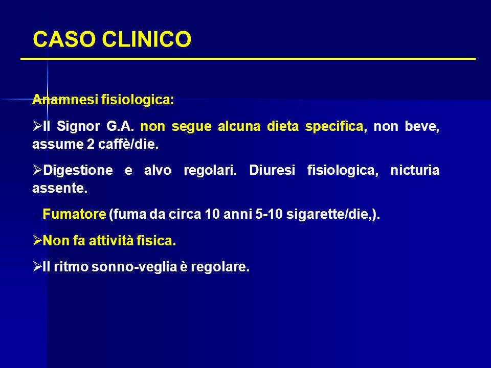 CASO CLINICO Anamnesi fisiologica: