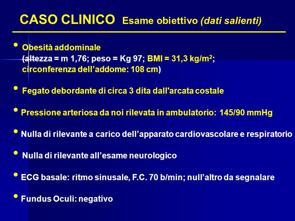 CASO CLINICO Esame obiettivo (dati salienti)