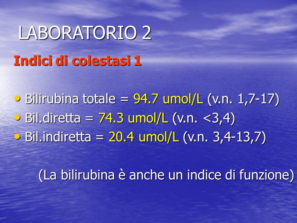 LABORATORIO 2 Indici di colestasi 1