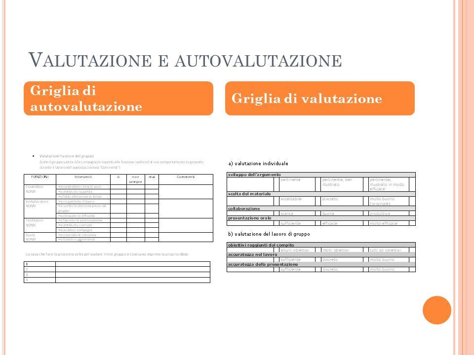 Valutazione e autovalutazione