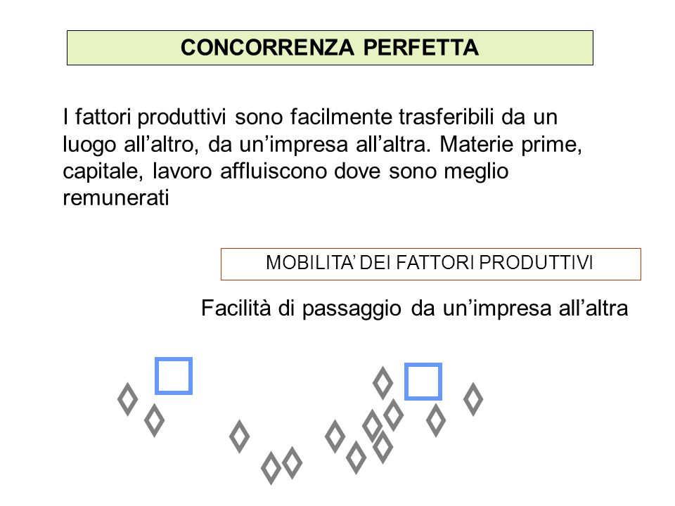 MOBILITA' DEI FATTORI PRODUTTIVI
