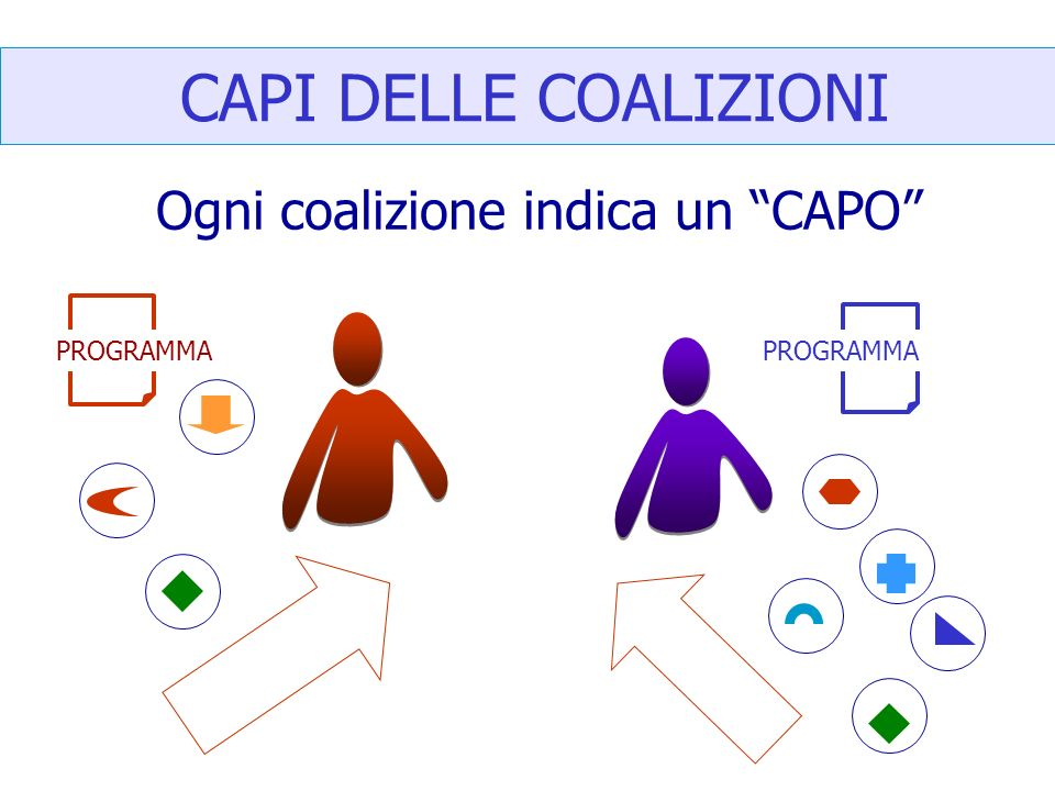 CAPI DELLE COALIZIONI Ogni coalizione indica un CAPO PROGRAMMA