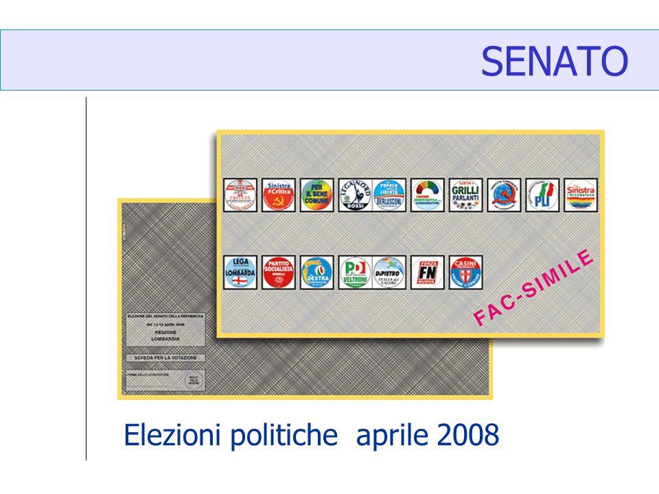 SENATO Elezioni politiche aprile 2008