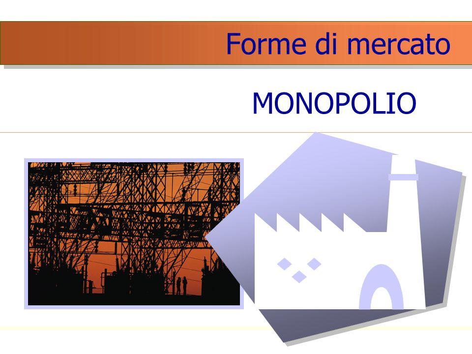 Forme di mercato MONOPOLIO