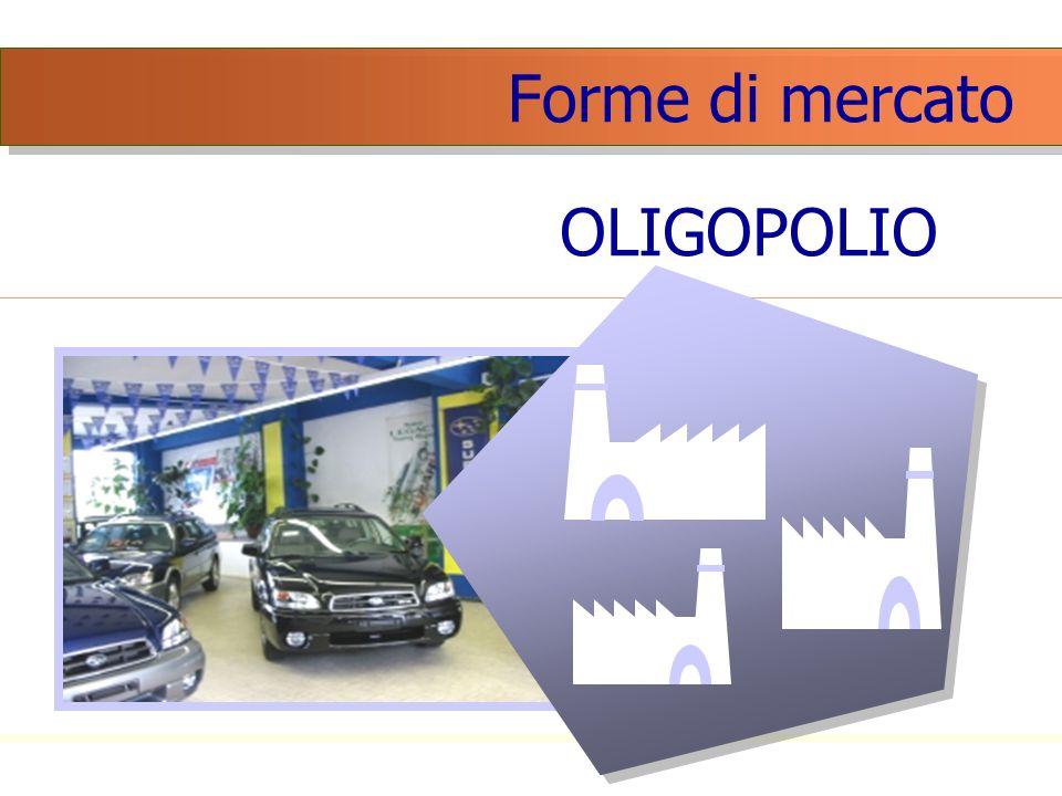 Forme di mercato OLIGOPOLIO