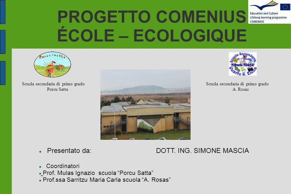 PROGETTO COMENIUS ÉCOLE – ECOLOGIQUE